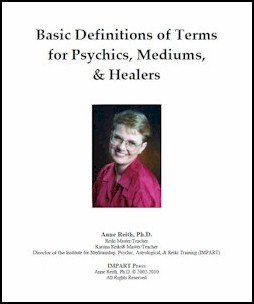 Definitions of Terms for Psychics, Mediums & Healers